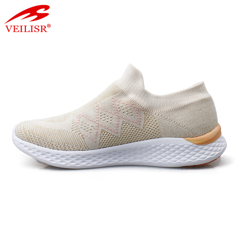 Most popular knit fabric fashion ladies casual shoes women sneakers