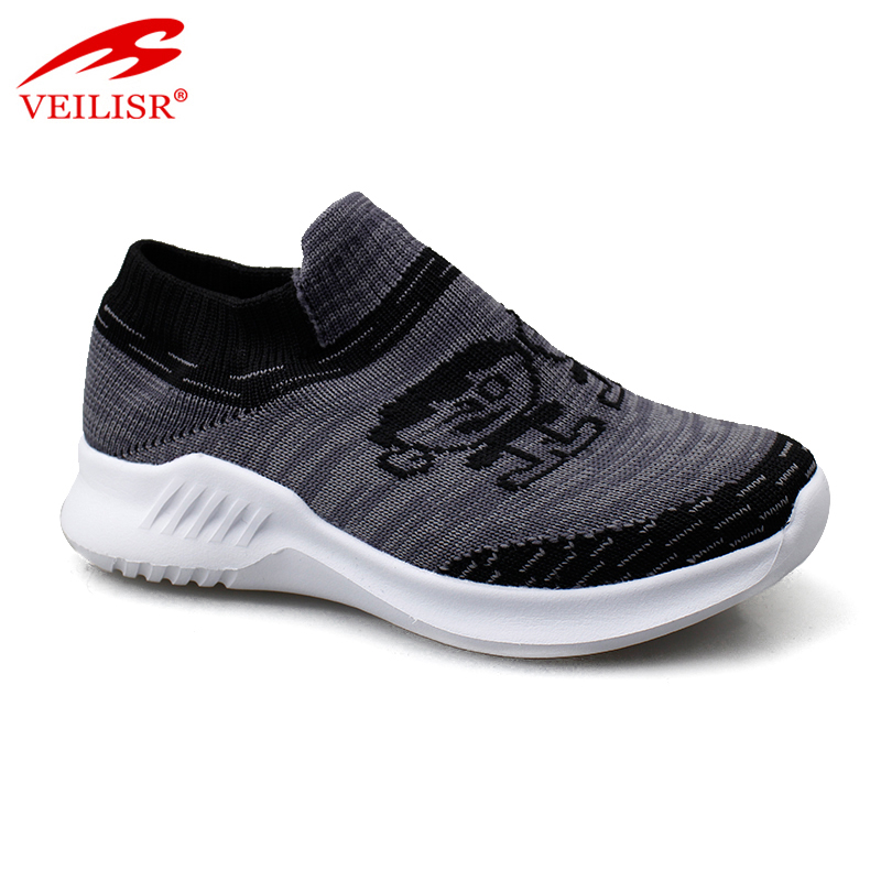 Wholesale knit fabric children fashion sneakers kids casual shoes