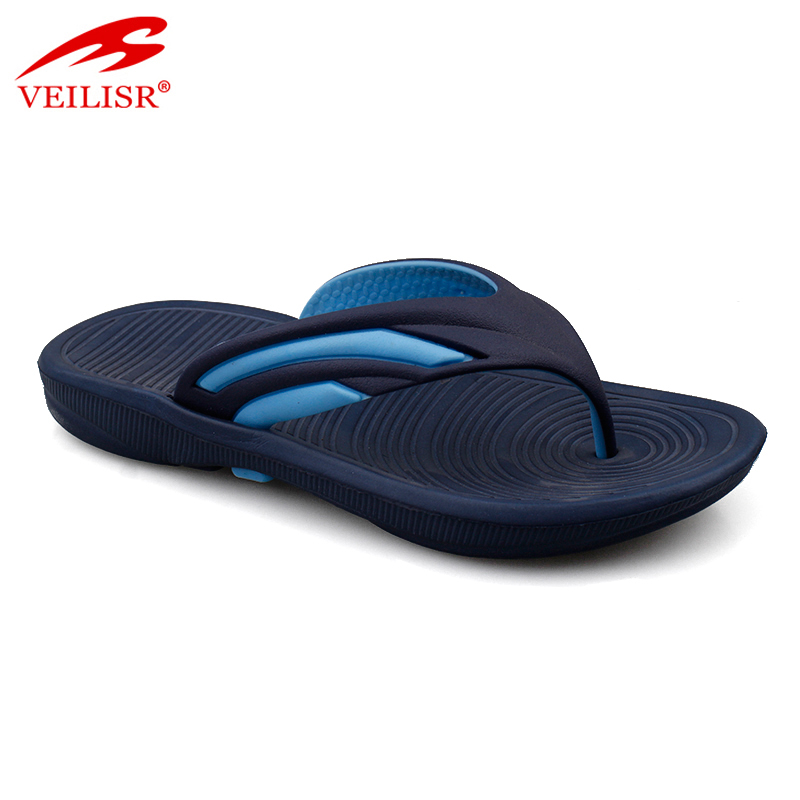 Outdoor summer beach children PVC strap slippers kids flip flops