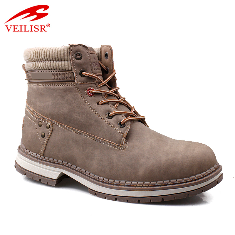New outdoor faux leather ladies casual shoes women winter boots