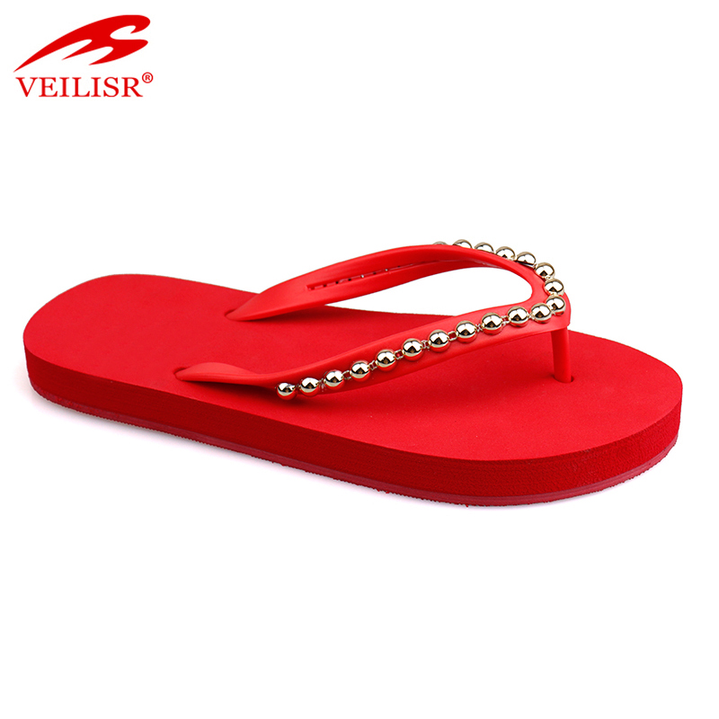 New fancy party footwear women beach wedding flip flops