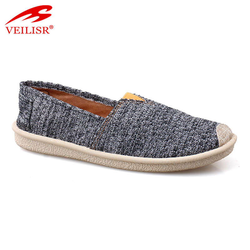 Outdoor knit fabric upper ladies footwear women slip on casual shoes