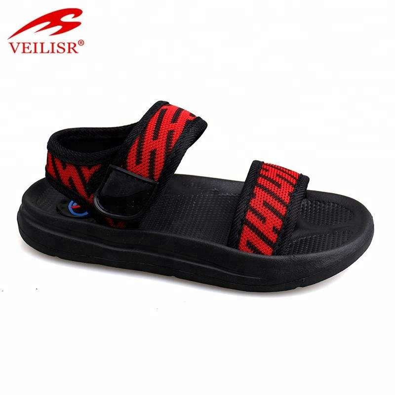 Hook loop design outdoor fabric tape kids footwear children sandals