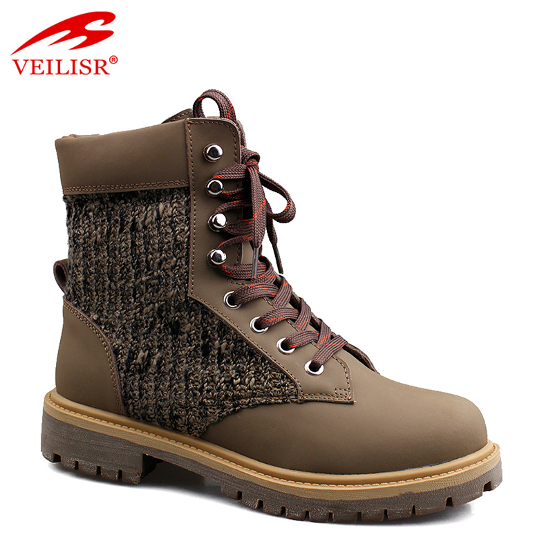 Outdoor PU fabric high top ladies mid top casual shoes women winter snow boots