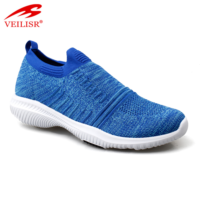 Wholesale Popular China factory Durable New blue fly knit fabric ladies casual sport shoes women fashion sneakers