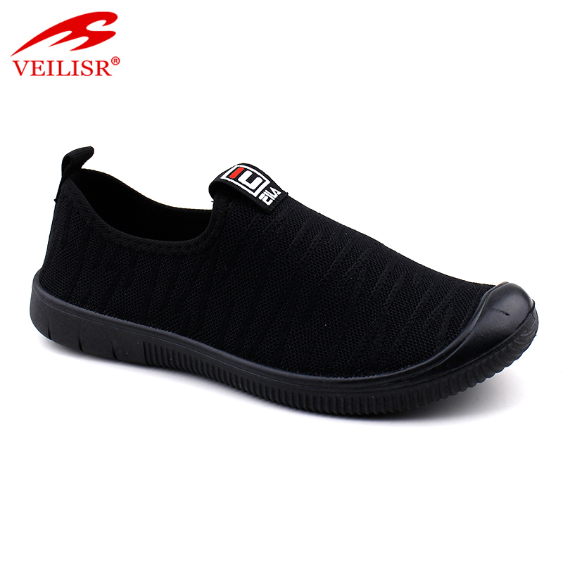 Outdoor knit fabric fashion slip on footwear men casual shoes