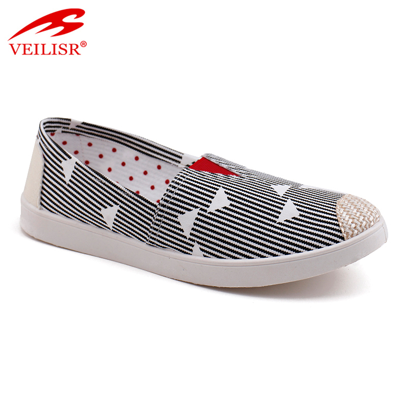 New outdoor ladies flat slip on women canvas walking running casual shoes