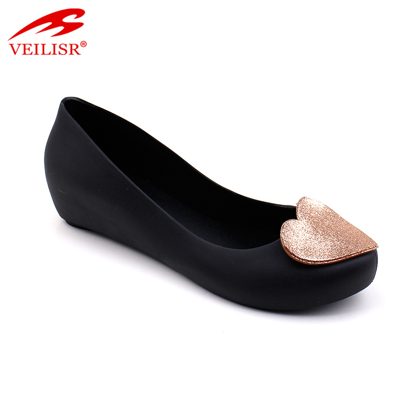 Good Top selling Newest Comfortable Promotional Summer wedge ladies pvc jelly women high heel party dress shoes