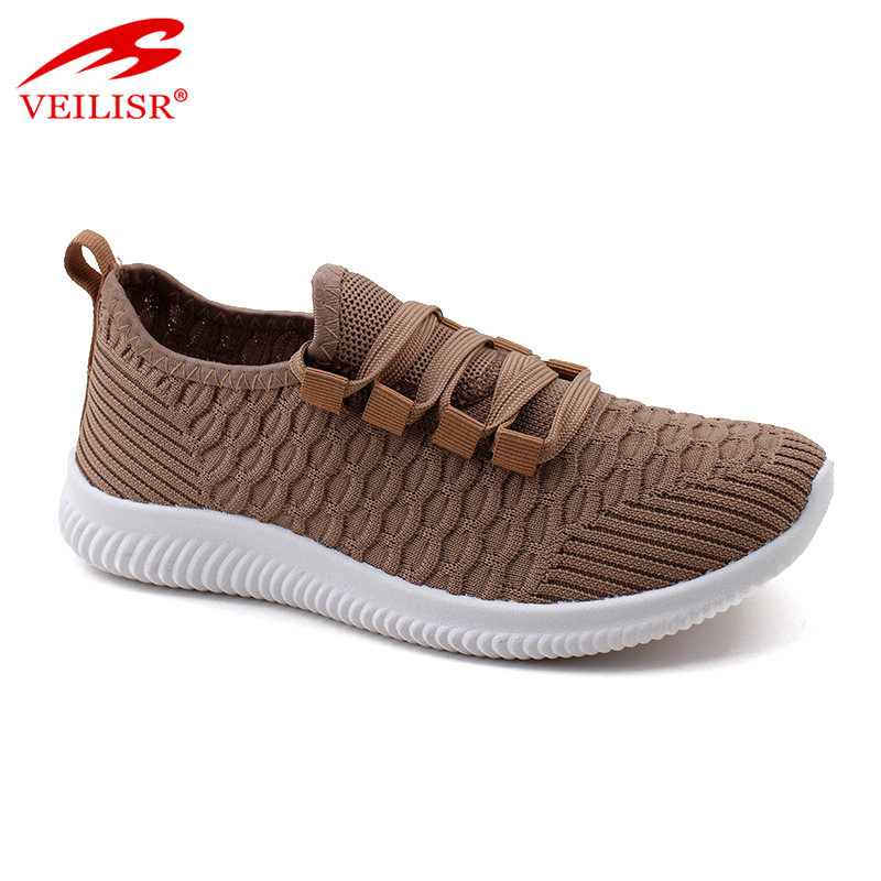 Outdoor summer knit fabric ladies sport shoes women sneakers