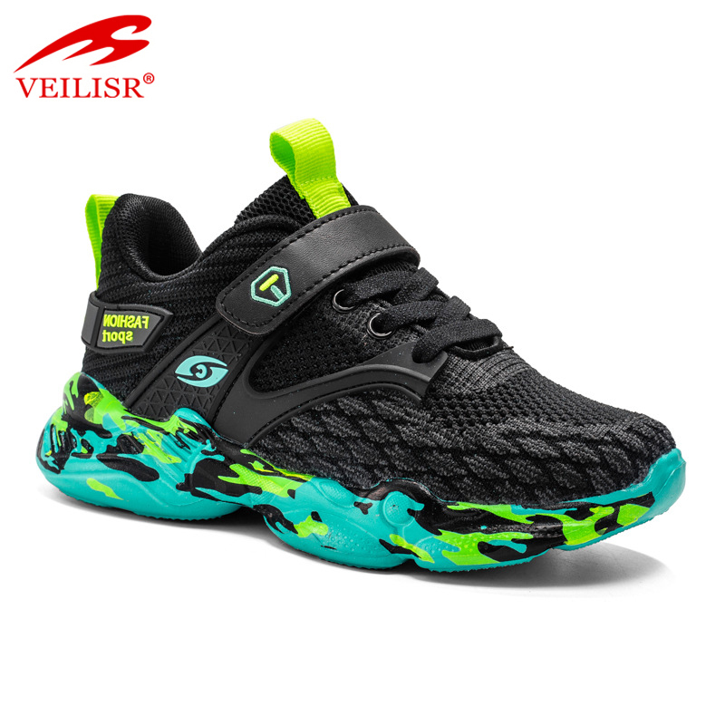 2020 China wholesale Hot Latest Typical Style fly knit mesh fabric children casual sport shoes kids running yeezy sneakers