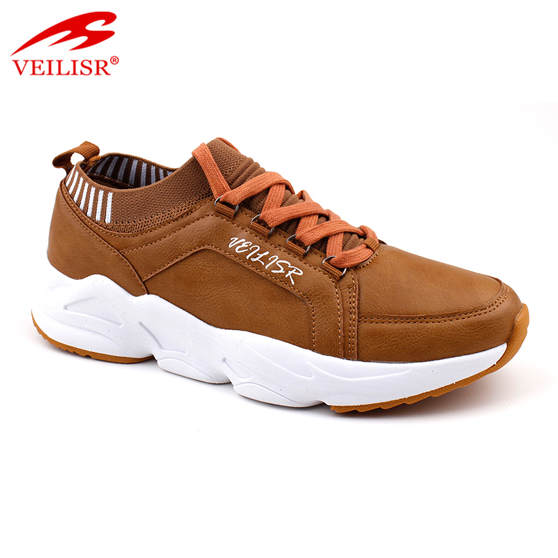 Zapatos Newest style China Factory Price custom High Quality fashion faux leather upper casual shoes men sneakers