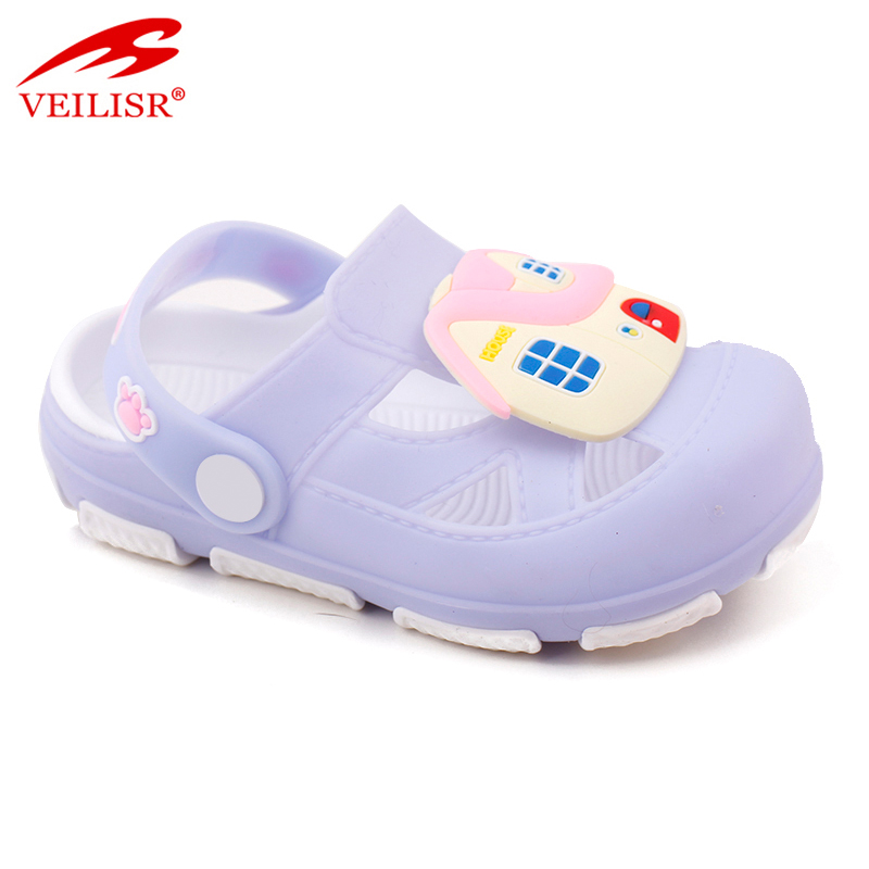 Outdoor summer carton style children PVC sabots kids clogs