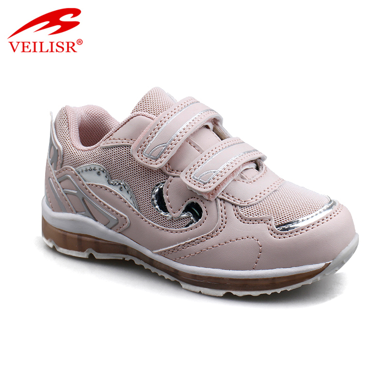 Zapatillas PU mesh children fashion sneakers kids LED light shoes