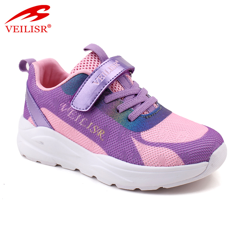 New design knit fabric children school shoe casual kids shoes