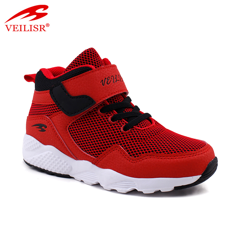 New design PU mesh upper children casual shoes kids boots