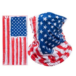 Multifunctional Fabric Head Turban  Polyester Flag Bandanas