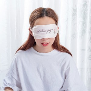 Pink color with Embridory logo silk eye mask