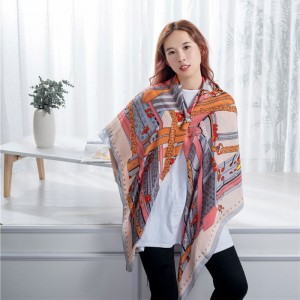 Long silk scarf shawl
