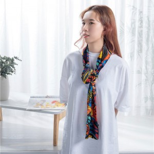 Thin soft polyester scarf