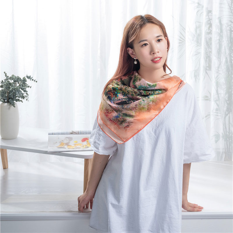 Manufacture square silk scarf Featured Image