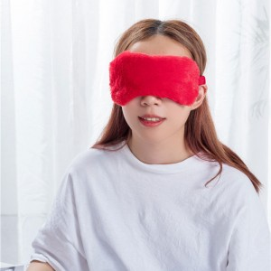 Red color velvet eye mask