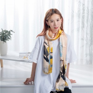 Unique designs silk scarf
