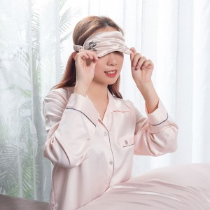 Print design silk eye mask