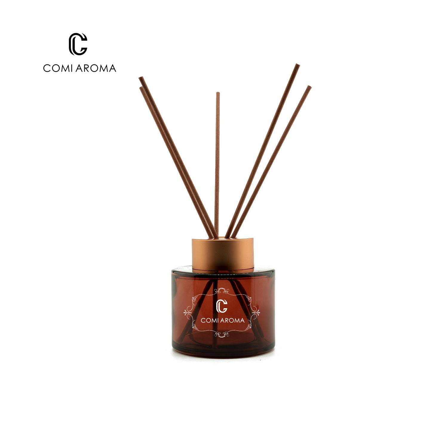 130ml Round Reed Diffuser Glass Bottle for Liquid Fragrance