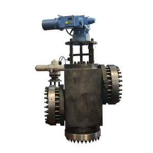 Electric three-way valve for water supply of high-pressure heater
