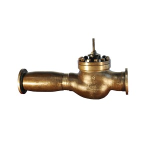 Emergency drain control valve for high pressure heater