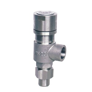 Spring loaded low lift thread type safety valve