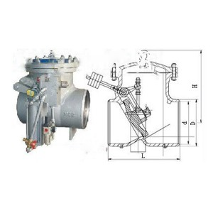 Steam extraction check valve