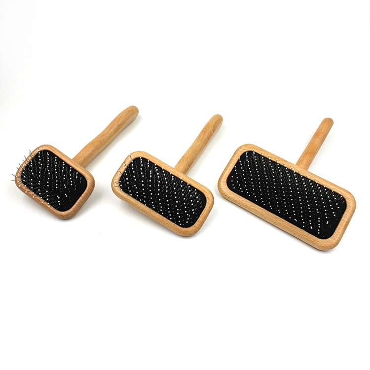Wood Dog Cat Slicker Brush