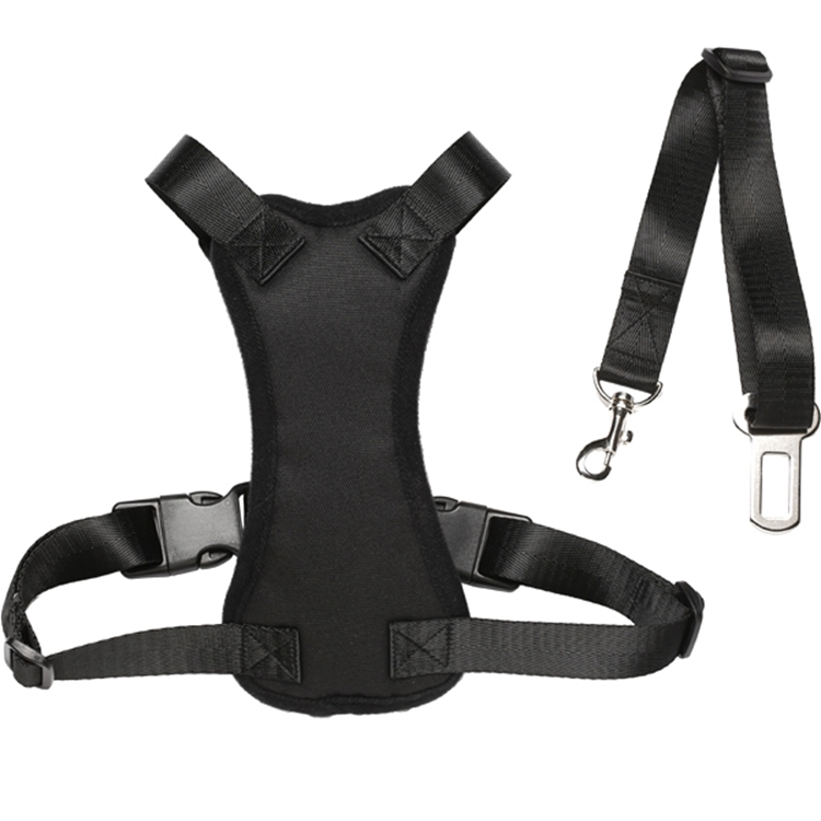 Dog Safety Harness With Seat Belt
