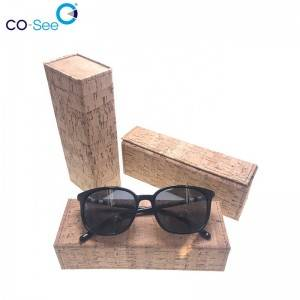Wholesale fashion designer OEM custom LOGO leather triangle folding sunglass case