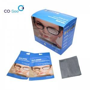 Ready to Ship Microfiber Suede Anti Fog Glasses Wiping Cloth for Optical Glasses Sunglasses