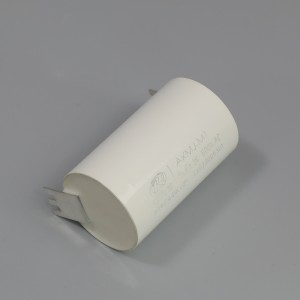 Metalized film capacitor for AC filtering
