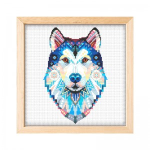 New novelty DIY handmade embroidery diy kit fabric material make cross stitch colour dog pattern cross stitch kits 15066