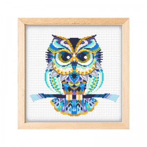 Wholesale and custom living room diy owl cross stitch 15067