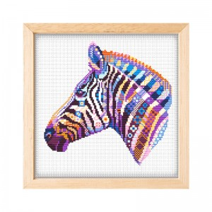 Hot sale wholesale diy color horse cross stitch threads canvas fabric cross stitch 15082