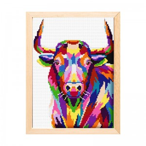 Room wall decoration cattle pattern cross stitch painting cross stitch decorating   15168