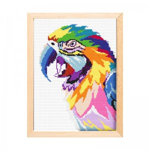 Cheap wholesale needlework handicraft parrot painting kit cross stitch                   15190