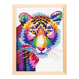 Cheap wholesale needlework handicraft tiger painting kit cross stitch   15196