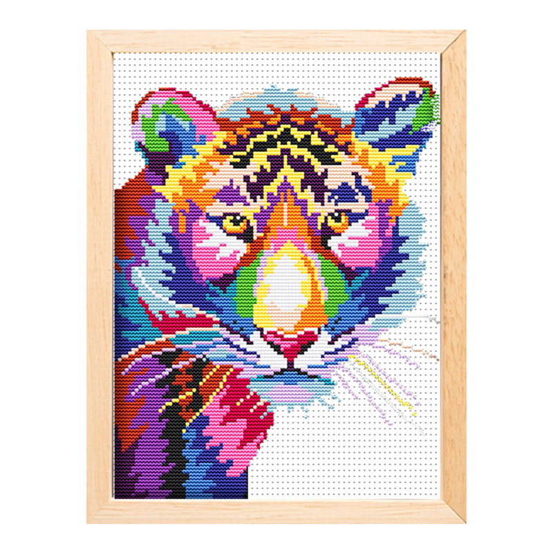 Cheap wholesale needlework handicraft tiger painting kit cross stitch   15196 Featured Image