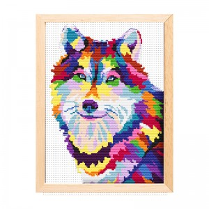New style artwork wall decor diy animal printed cross stitch    15197