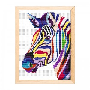 Cheap wholesale needlework handicraft horse painting kit cross stitch 15198