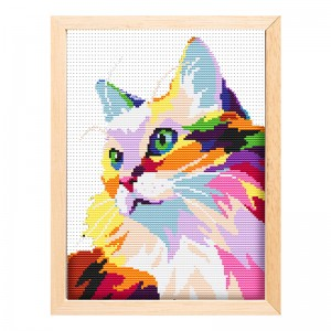 Cheap wholesale needlework handicraft cute cat painting kit cross stitch  15200