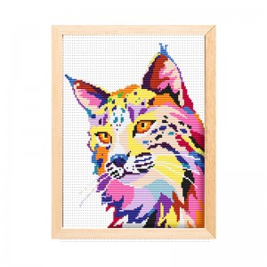 High quality wholesale canvas DIY handmade animal cross stitch hand embroidery15201