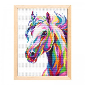 Trending hot products embroidery cross stitch kit wall art horse cross stitch    15202