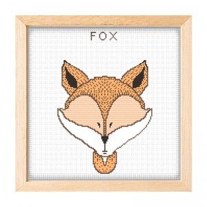 Wholesale factory needlework embroidery cross stitch fox cross stitch kit15043